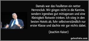 Kaiser-Feuilleton